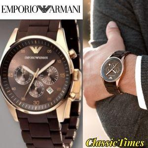 **NEW** Armani Sport AR5890 Chronograph Brown Dial